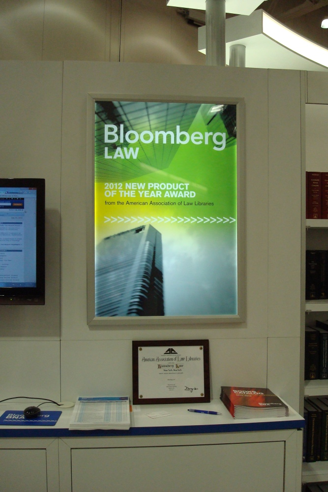 Congratulations to Bloomberg Law 2012 AALL New Product Award Winner