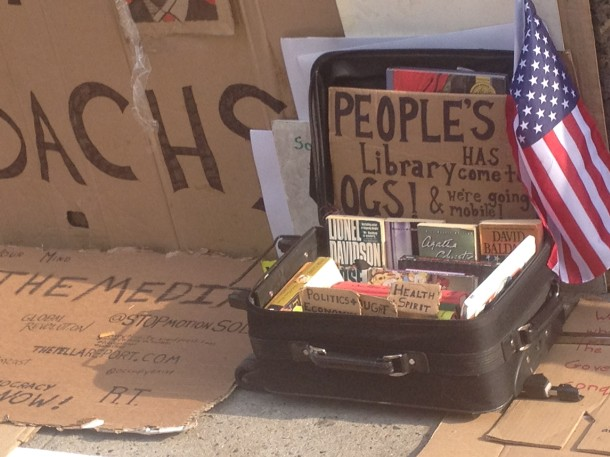 People's Library at Occupy Wall Street's Encampment Outside Lloyd Blankfein's Building in Manhattan